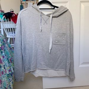 Tops - Gray cropped sweatshirt